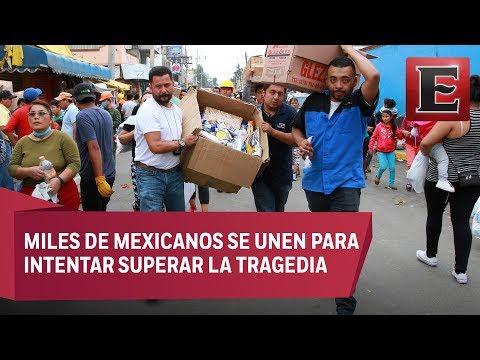 El sismo saca la mejor cara del mexicano: solidaridad y unión