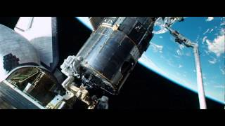 """Gravity"" continuous shot. Opening Scene. Space debris hits Explorer"