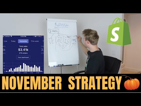 How To EXPLODE Your Shopify Results In November - UPDATE