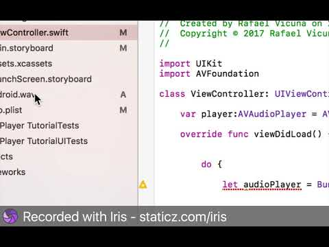 Xcode 8 - How To Play Audio Files (Swift 3 Programming)