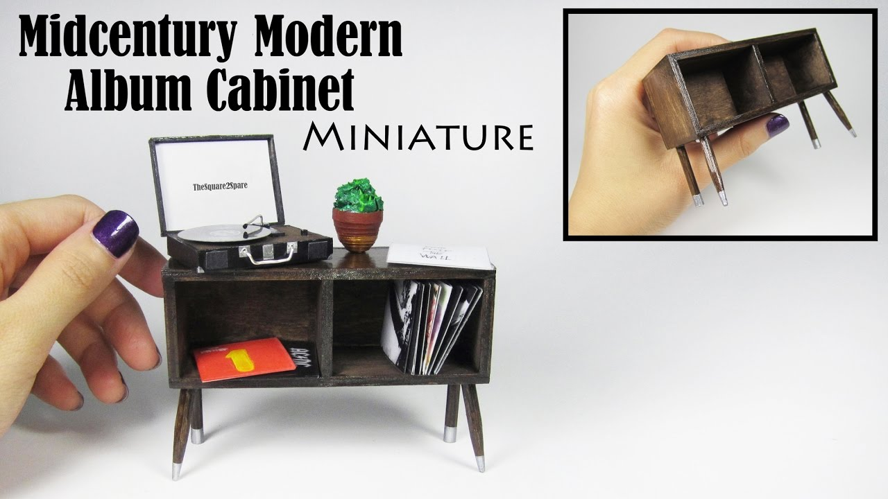 DIY Miniature: Modern Record Album Cabinet