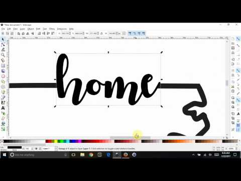 Inkscape - Combine text to look like part of an outline