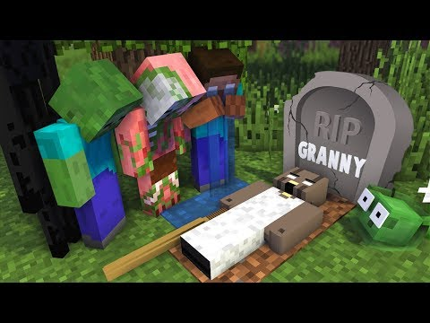 Monster School : RIP GRANNY Horror Game Challenge - Minecraft Animation