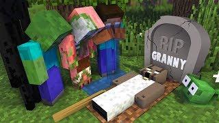 Monster School : RIP GRANNY Horror Game Challenge - Minecraft Animation