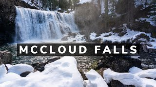 Snowshoeing to McCloud Falls in Siskiyou County