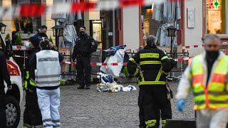 At least four dead after car crashes into pedestrian zone in German city of Trier