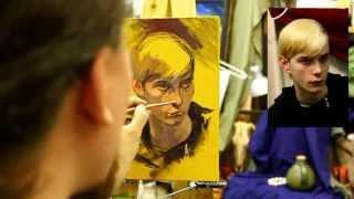 Пример короткого портрета - Обучение живописи. Масло. Портрет, 10 серия