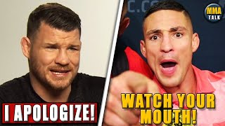 Michael Bisping APOLOGIZES to Diego Sanchez for the criticism of Joshua Fabia, Usman-Jake Paul
