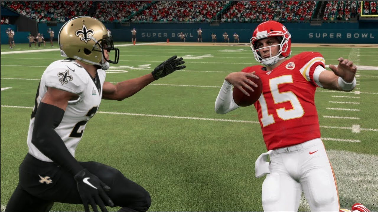 Madden 20 Gameplay - Kansas City Chiefs vs New Orleans Saints ...