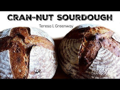 How to Fold fruit and Nuts into Bread Dough Cranberry Walnut Sourdough