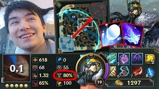 NEW IMPROVED URF TRYNDAMERE NO COOLDOWN FULL E DAMAGE BUILD ! + GLOBAL SNOWBALL ARE NOW A THING !