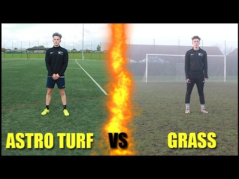 WHAT IS BETTER?! *Astro-Turf vs Grass Football Pitch!*