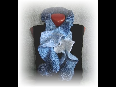вязание спицами, шарф и прочее