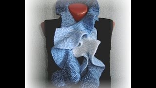 Красивый шарф спицами knitted scarf Вязание с LusiTen