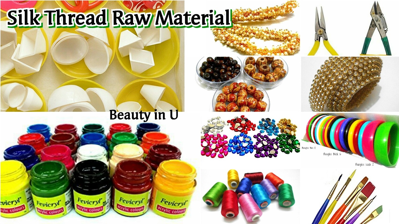 Raw Material For Silk Thread Jewelery Availability Tools Types