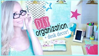 Diy Organization & Desk Decor Ideas!