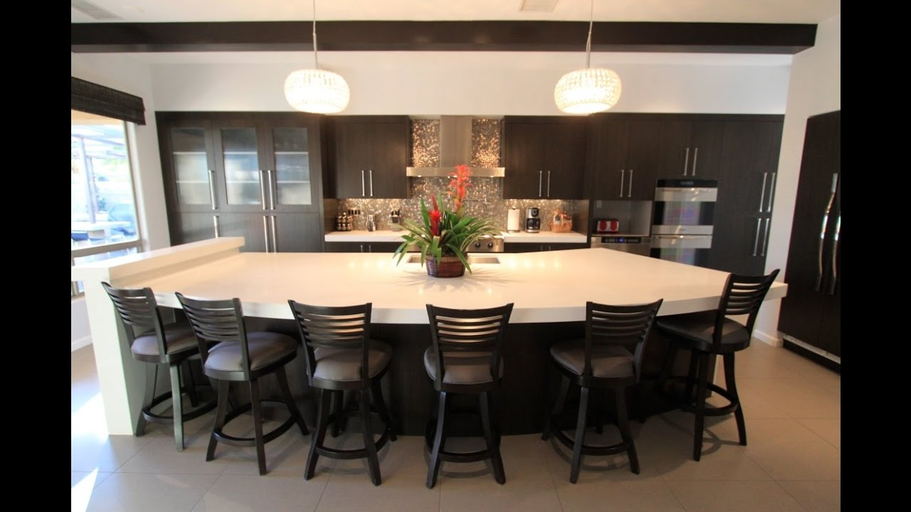 Large Kitchen Island With Seating Ideas And Kitchen Island Cabinets Youtube