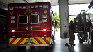 Carmel fire department Indiana Engine and ambulance respond to a medical call