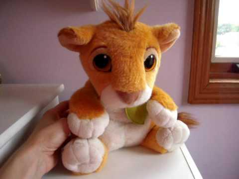 Lion King Talking Simba Stuffed Animal Youtube