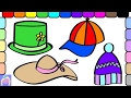Learn How To Color These Fun Hats For Dress Up Time