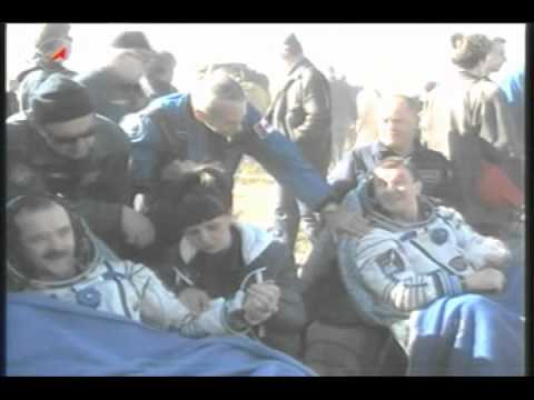 Expedition 35 Crew Lands Safely in Kazakhstan