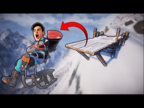 SLEDDING OFF A GIANT CLIFF?! (Steep)
