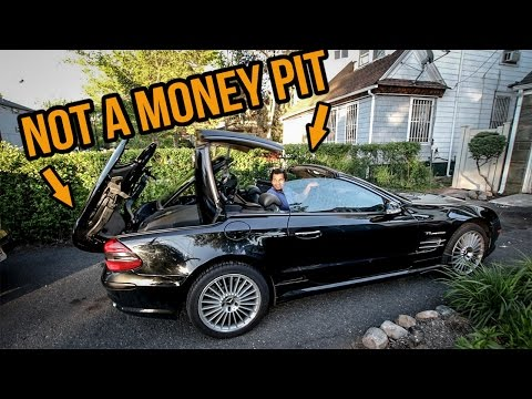 I Fixed The Expensive Convertible Roof On My $8,900 SL55 AMG For Free (Almost)