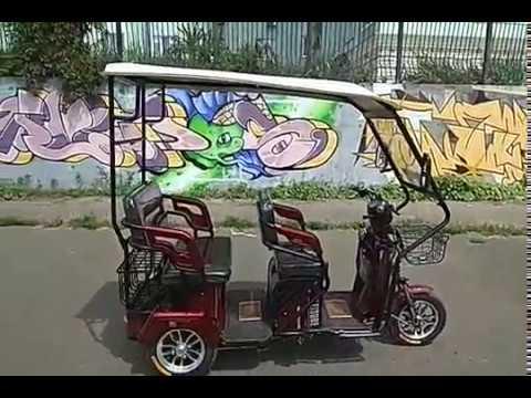 Купить электро трицикл с крышей, электроскутер с кабиной Elwinn в Украине.