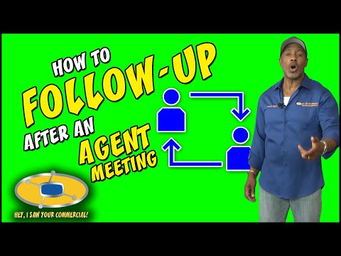 How To Follow Up After Agent Meeting
