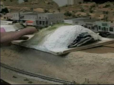 How to Make Villages for Model Train Layouts : Building Hills for Model Train Layout Villages
