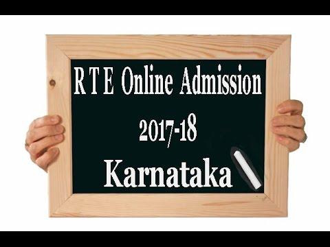 RTE  Admission (KARNATAKA) 2017 18