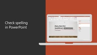 Check spelling in PowerPoint