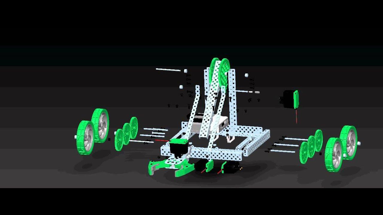 VEX Clawbot Animation CAD - YouTube