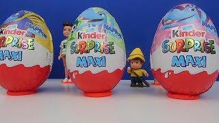 Kinder Sürpriz Maxi Yumurta Oyuncaklı 4 DEV Giant Kinder Surprise Maxi Surprise Toys Bidünya Oyuncak