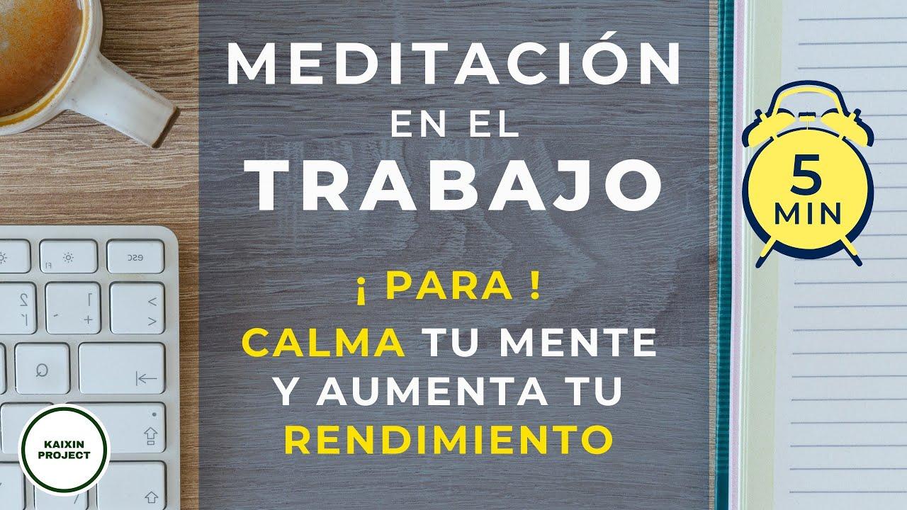 Meditación 5 MINUTOS para Reducir ESTRES y Calmar la Mente. Aumenta tu BIENESTAR y tu CREATIVIDAD.