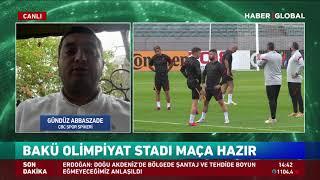 Neftçi Bakü - Galatasaray maçı hakkında Azerbaycanlı Spiker: O Bayrak da, Bu Bayrak da Bizim