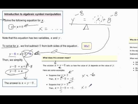 Introduction To Algebraic Symbol Manipulationv Youtube