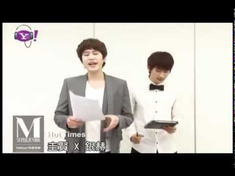 [ENG] 110616 SJM Kyuhyun Eunhyuk teaching (Hot times) Part 3 @ Yahoo Music