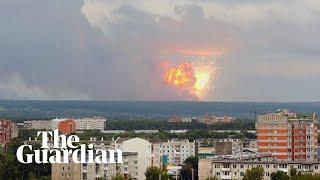 Explosions rock Russian ammunition depot in Siberia