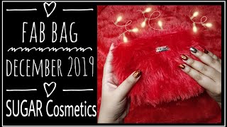 Fab Bag December 2019 |Sugar Cosmetics choice |Unboxing and Review