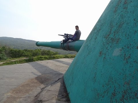 Voroshilov Battery 305-mm turret artillery battery on Vladivostok Russky Island's, Russia