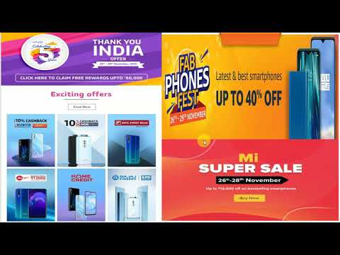 Vivo 5 Year celebration// Amazon FAB Phones Fest// Mi super Sale// Black Friday sale// Realme Sale