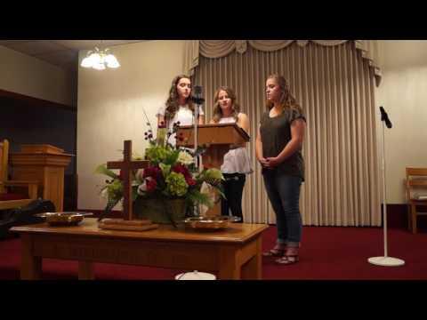 Girls from Westfield Church singing - Down...
