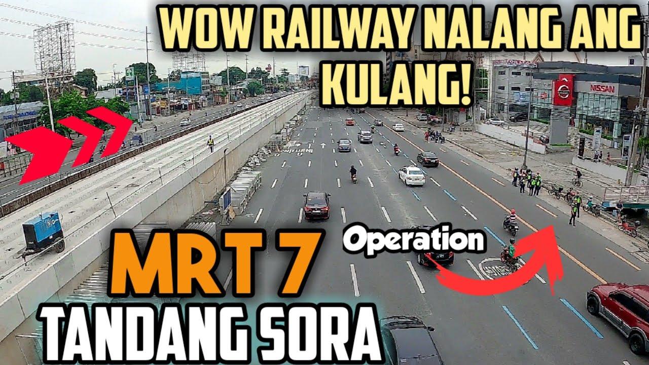 MRT 7 railway sa Tandang Sora Station Patapos na!   Operation sa Commonwealth Avenue
