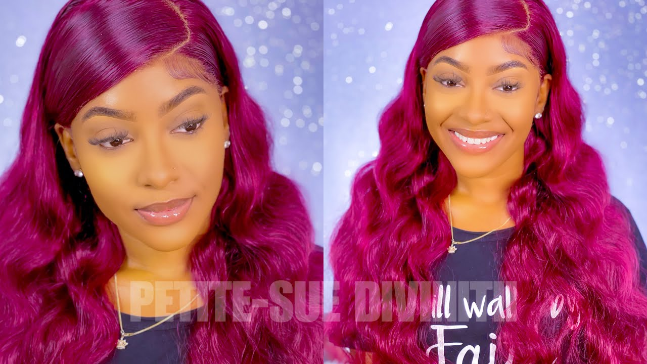 My Favorite Red Hair!  99J Burgundy Lace Front Wig Install   ft. Asteria Hair   PETITE-SUE DIVINITII
