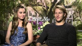 The Best of Me (2014) Exclusive Luke Bracey & Liana Liberato Interview [HD]