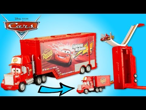 Camion Mack Transformable Disney Cars Cascades Flash McQueen Jouet Lightning Relampago Toy Review