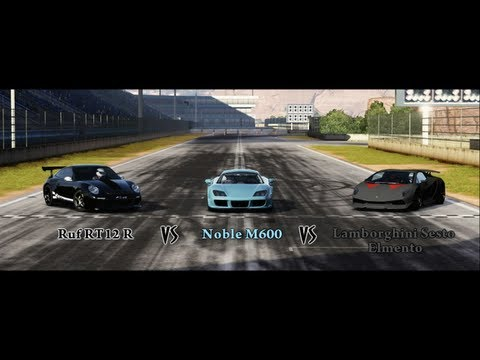 Forza Motorsport 4 Battle – S1.E14: Ruf RT12 R Vs Noble M600 Vs Lamborghini Sesto Elmento