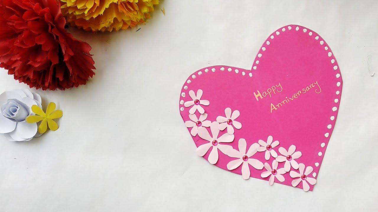 how to make a beautiful handmade anniversary card idea