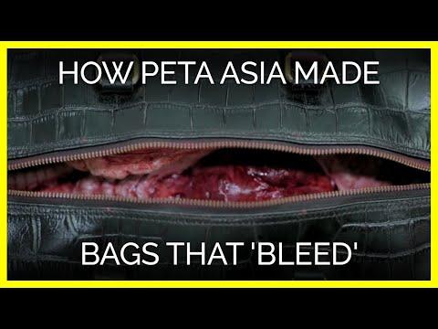 How PETA Asia Made Bags That 'Bleed'